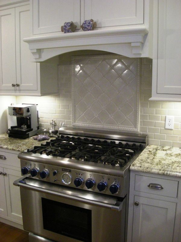 This Backsplash Is Comprised Of 3 X 6 Ceramic Crackle