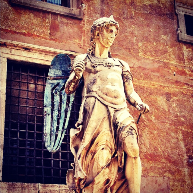 Statue of the Archangel Michael in the Castel Sant'Angelo