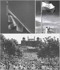 this is how we fly our Tiranga (national flag) 15 Aug 1947