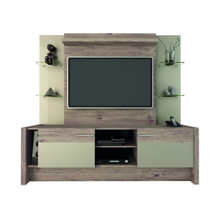 Cute Morning Side Freestanding Theater Entertainment Center in Nature and Nude