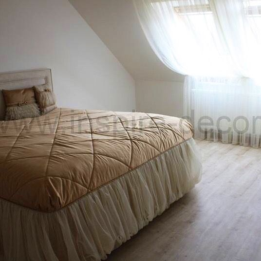 Romantické záclony do ložnice, přehoz na postel, romantic curtains for the bedroom