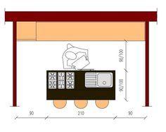cucina con isola dimensioni minime - Cerca con Google