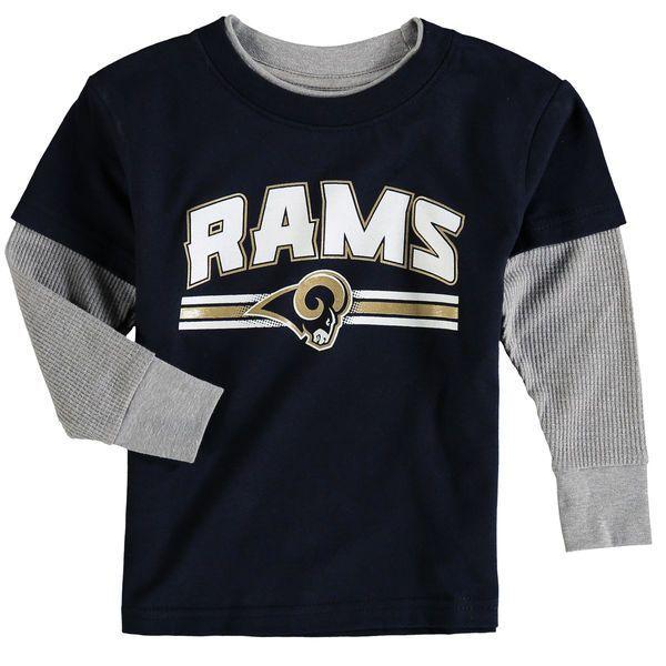 Los Angeles Rams Toddler Fan Gear Bleachers Faux Layer Long Sleeve T-Shirt - Navy - $19.99