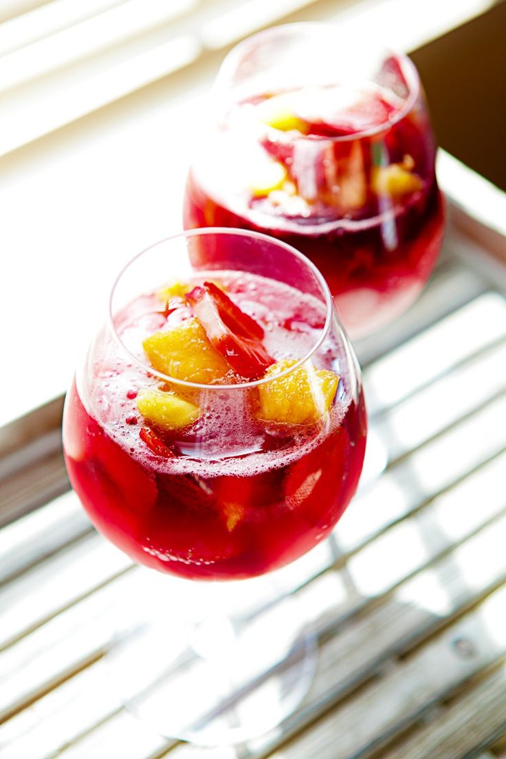 Ingredient of the day: Red wine. Cool off after a long day of work/school/housework/yardwork/ videogames/sleeping with a wine spritzer full of fresh fruit. You get a serving of fruit in each one, and red wine is shown to have heart benefits, so cheers to your health!! Simple Wine Spritzer Fresh strawberries Fresh pineapples Red wine- whatever kind you like Sprite Fresh mint leaves 1. I didn't list exact amounts of each because you really can make this how you prefer it. I used about 1/3 cup…
