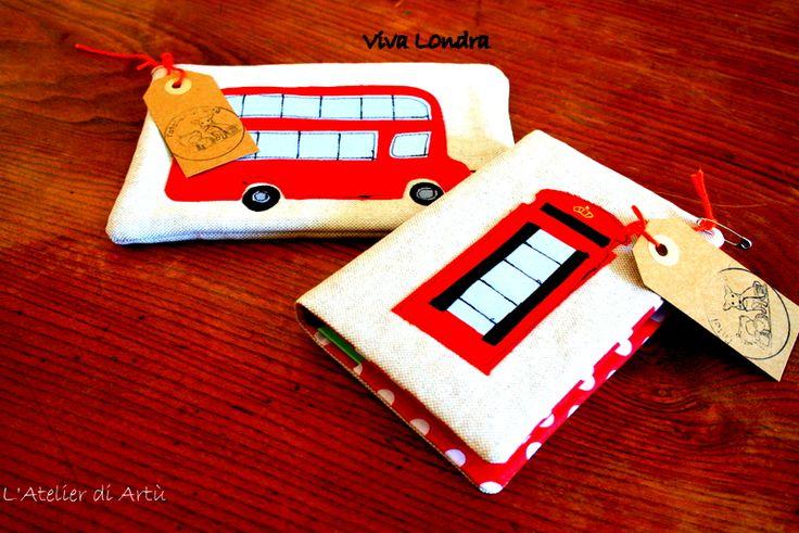 Viva Londra, bustina e quaderno