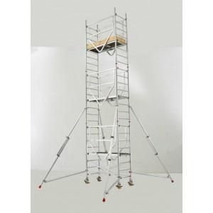 Trabattello alluminio Base mt. 0.75x2.00 Mod. 7075 da mt. 3,25 a 11,25 € 550/2.977   www.trabattellionline.com