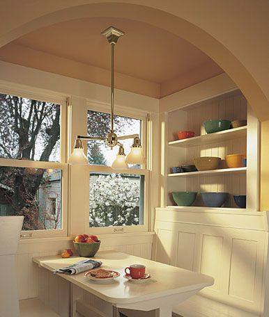 Best Breakfast Nooks Images On Pinterest Kitchen Ideas - Craftsman bungalow kitchen breakfast nooks