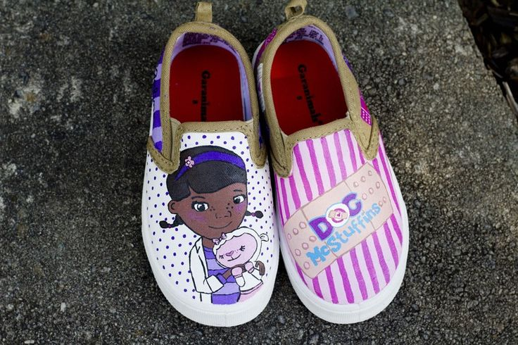 Doc McStuffins Themed Painted Toddler Shoes - CLOTHING