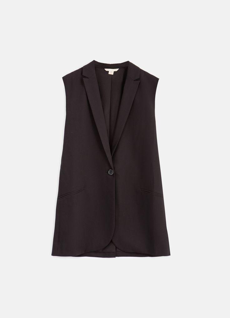Купить Удлиненный жилет (LB3P5A) в интернет-магазине одежды O'STIN