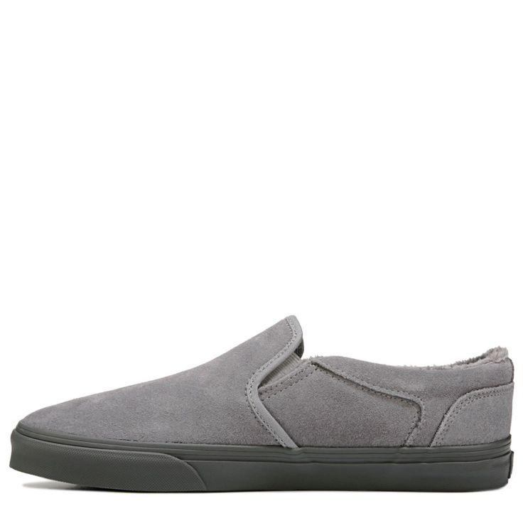 Vans Men's Asher Slip On Suede Skate Shoes (Grey/Grey)