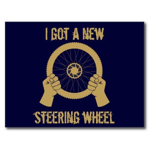 Steering wheel postcards