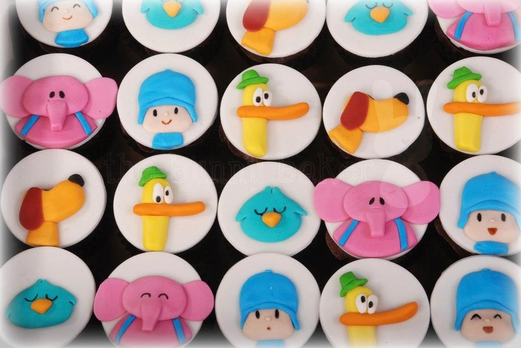 pocoyo and friends birthday cupcakes