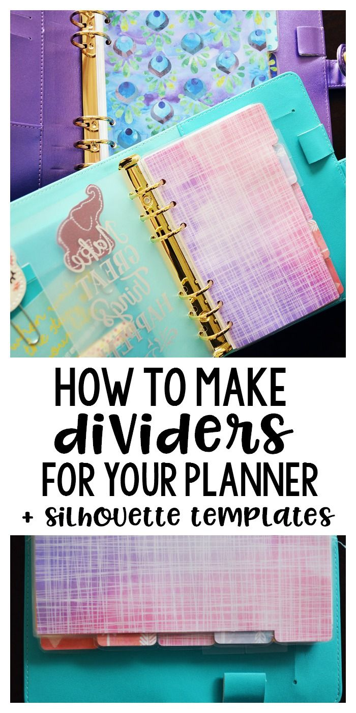 How to Make Planner Dividers With Your Silhouette - Planning Inspired