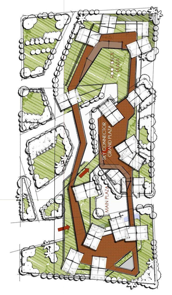 Jiangbeizui Educational Town In 2020 Landscape Design Drawings Urban Landscape Design Parking Design