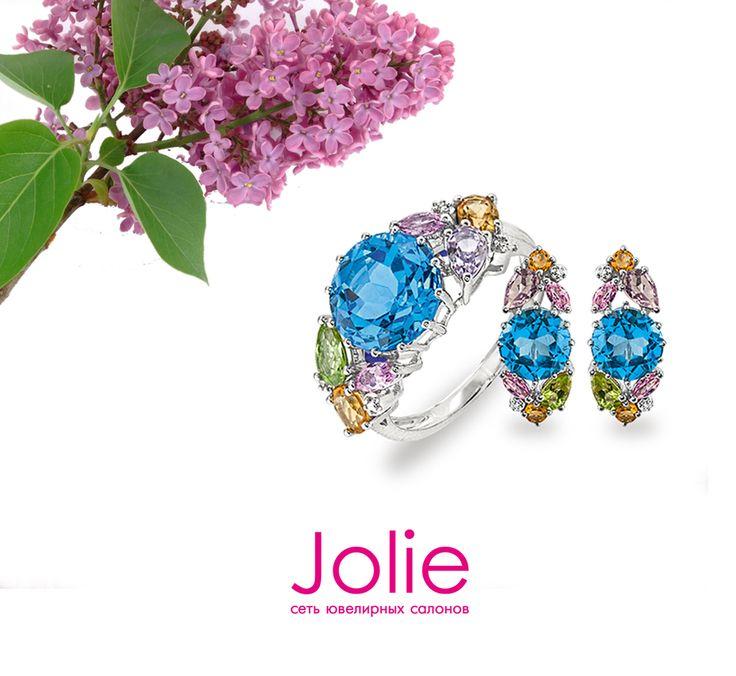 Запах сирени на улице сбивает с ног, стоит только увидеть эти прекрасные майские цветы🌷. Ювелирные салоны Jolie тоже в самом цвету: у нас распустились вот такие украшения с топазами, аметистами, цитринами и хризолитами в белом золоте.  💍Кольцо:https://goo.gl/AgC4T9 🔸🔸Серьги:https://goo.gl/47cT2g . . . . . . #jolie #joliegold #ювелирныеукрашения #jewerly #nnstories #nntoday #gold #nnovхэштеги #jewelrygram #jewelryaddict #jewellery #jewelery #jewelrygram #instajewelry #instatag…