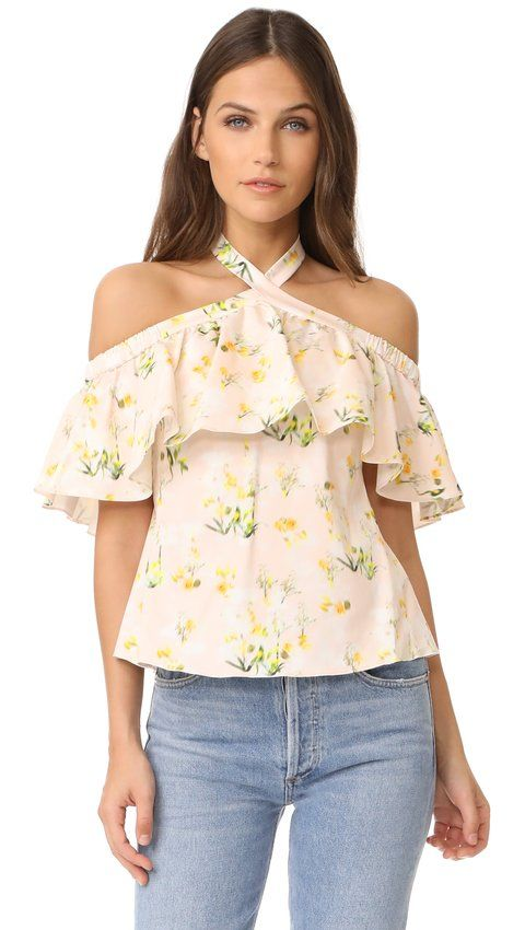 Rebecca Taylor - Off Shoulder Firefly Floral Top