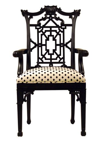 Black and White ~ Chinese ChippendaleChippendale Chairs, House Ideas, Chippend Chairs, Dining Chairs, Chinese Chippendale, Antiques Chairs, Accent Chairs, Beautiful Chairs, Chairs Design