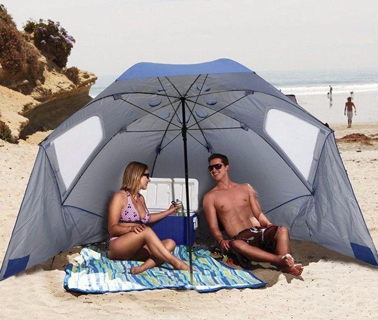 Large Outdoor Umbrella XL Portable Patio Canopy Beach Tent Sun Shelter Shade #LargeOutdoorUmbrella