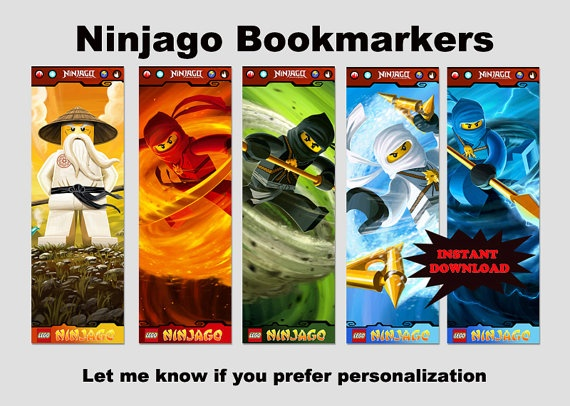 Instant Download SET OF 5 Ninjago