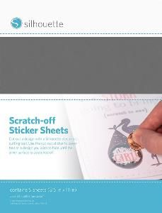 Cardstock - Adhesive : Silhouette Scratch-Off Sticker