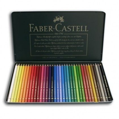 Faber Castell Polychromos Artists Pencils - Tin Set of 36 Pencils