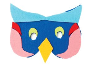 Make masks out of coloured felt