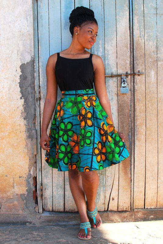 Kampala Fair Flora Skirt African Fashion Ankara Kitenge