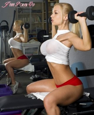 Fitness chick working out on a big cock 10