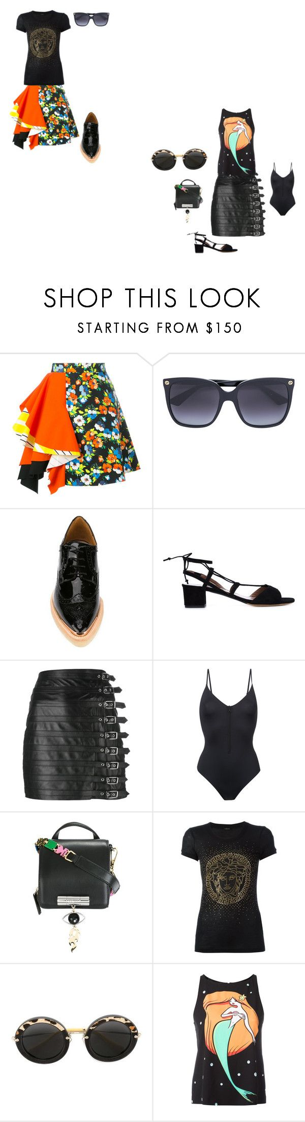"""ENJOY THURSDAY"" by ramakumari ❤ liked on Polyvore featuring MSGM, Gucci, Avelon, Tabitha Simmons, Manokhi, ONIA, Kenzo, Versace, Miu Miu and Boutique Moschino"