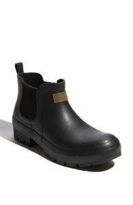 Hunter Short Mens Rain Shoe Boot Black