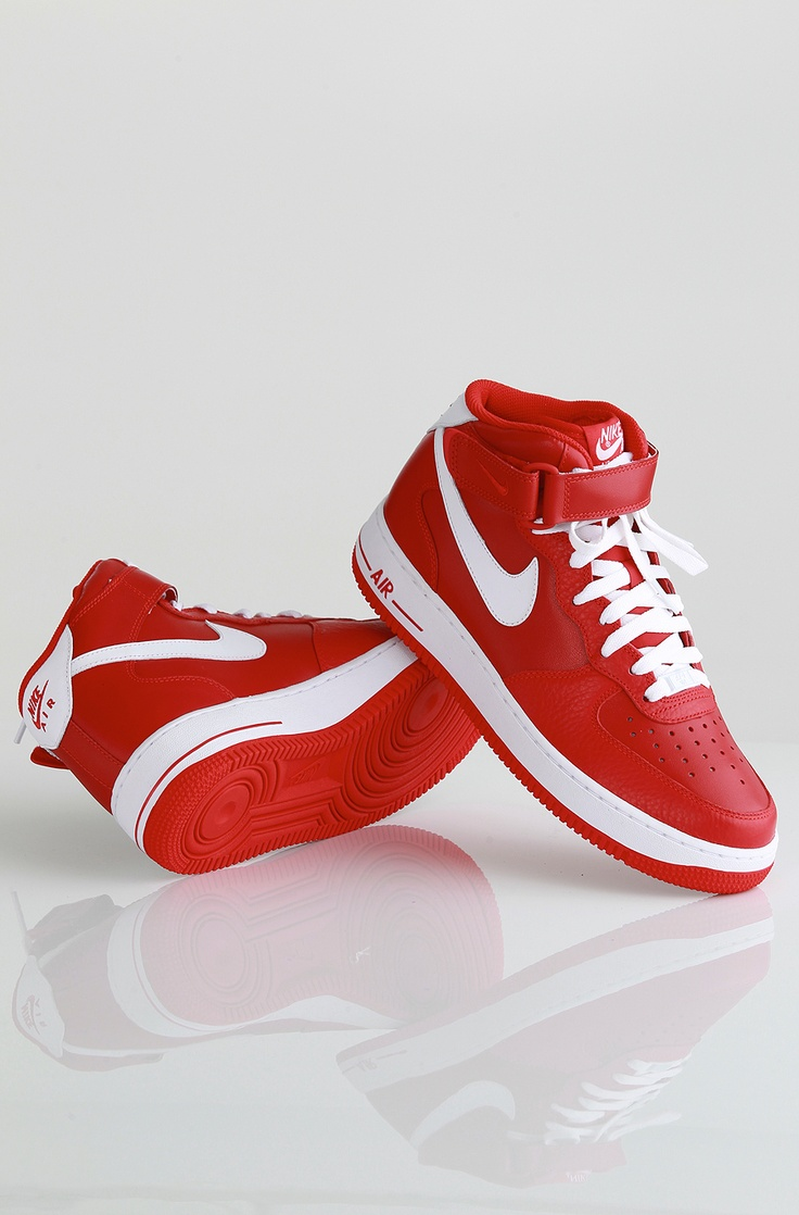 Nike Air Force 1 Mid 07 LE kengät Sport Red/White-Sport Red 89,90 € www.dropinmarket.com