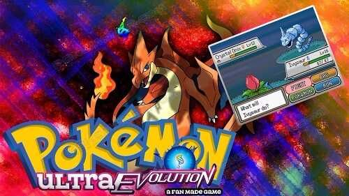 http://www.pokemoner.com/2017/11/pokemon-ultra-evolution.html Pokemon Ultra Evolution Name: Pokemon Ultra Evolution Create by: Dawn Bronze Description: You begin your journey at the Starod region in Vine Town when Professor Oak asks you to come to his lab to pick your starter Pokémon! After that you run into your rival called Daniel and he challenges you to a battle once you beat him he runs off to begin his Pokémon journey and so do you. FEATURES New region New Pokemon Kanto starters Mega…