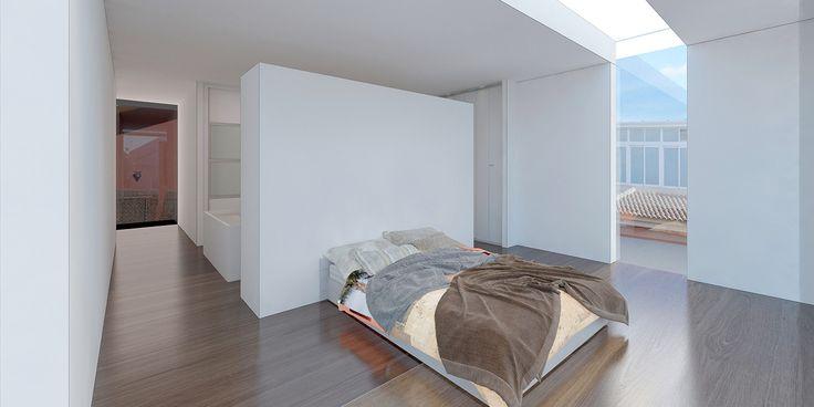 Dormitorio Principal. Vivienda Unifamiliar San Javier - Arquitania Business