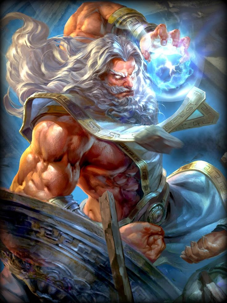 Depiction of Zeus in the video game Smite