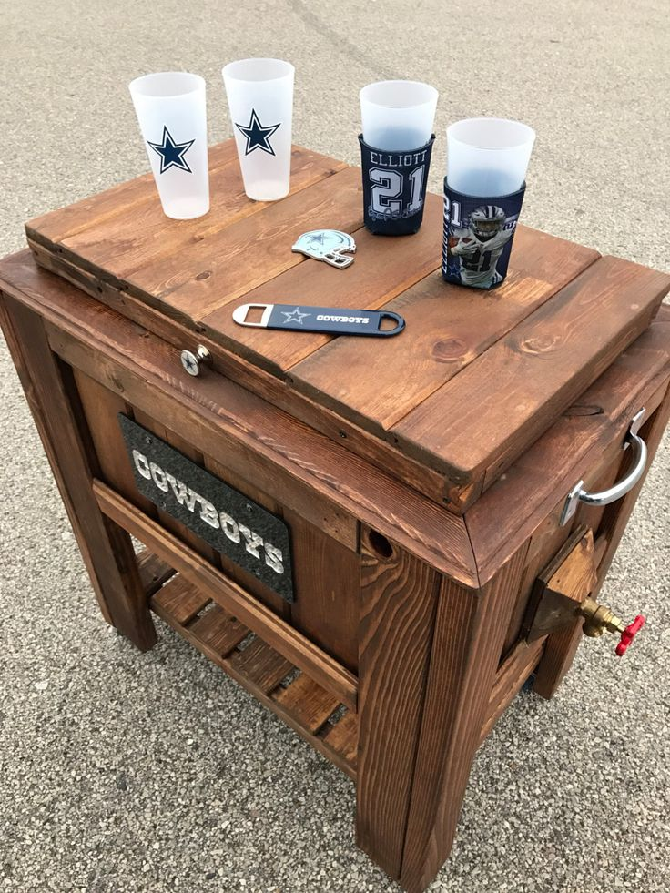 Handcrafted Custom-made Rustic Ice Chest Coolers by EnchantedBelongings on Etsy