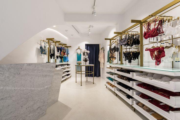 Lingerie boutique, swimwear, interior design, mykonos island, Kalogera street, Levon lingerie and resort wear.