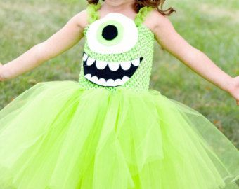 Mike Wazowski Inspired Tutu Dress Costume