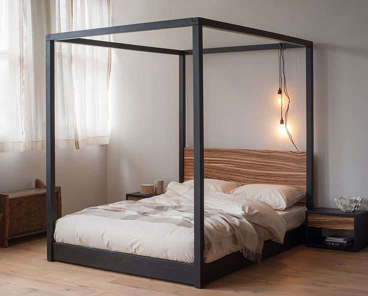 steel four poster bed 2