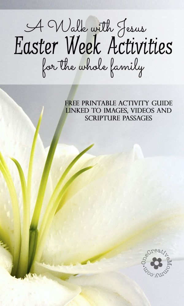 """Create meaningful Easter activities for children of all ages with my Free Printable """"Walk With Jesus Easter Activity Guide {OneCreativeMommy.com} Free Printable"""