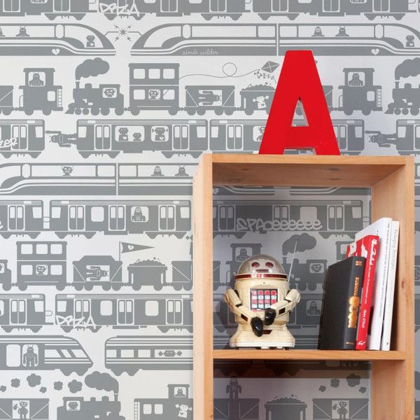 Aimee Wilder | Robo Rail Tin by Aimee Wilder | JUST KIDS WALLPAPER™