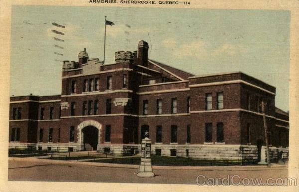 Armories Sherbrooke  Manège militaire rue Belvédère  1939