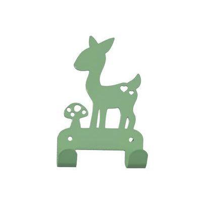 Kapstok hert mint. Coat hanger deer grey kids room. #kidsdecor
