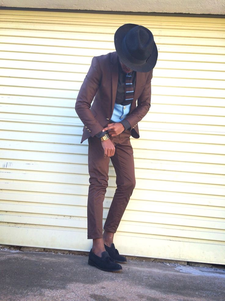 Suit Up & Show Up. #suits #style #fashion #dapper #fedora #knit #tie #loafer #styledrambo