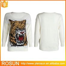 Woman's tiger pattern sublimation sweater women clothing Best Buy follow this link http://shopingayo.space