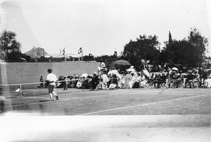 Singles final in 1896 Olympic tennis