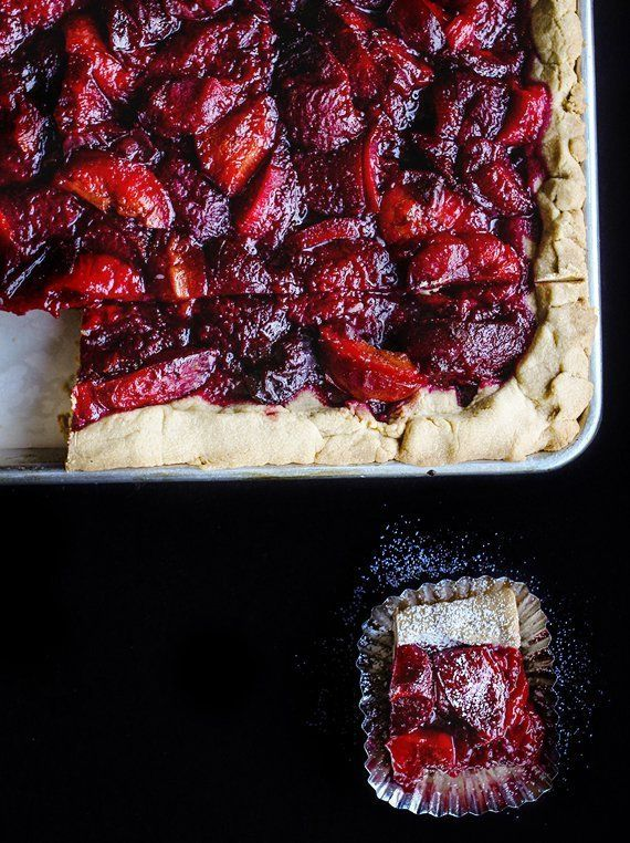 Plums are the quiet fruit of fall, next to the splashy late peaches and the household names like apples and pears. But under no circumstances should you miss plum season. I mean, look at these bars.