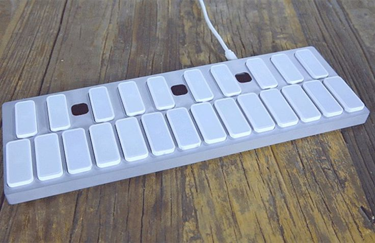 Keys is a music keyboard that lets you play and create music using LED lights and gestures.