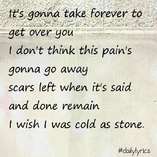 Cold as stone  By Lady Antebellum