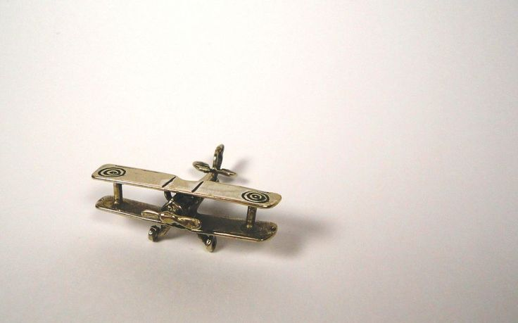 Little Decorative Metalic Plane Figurine