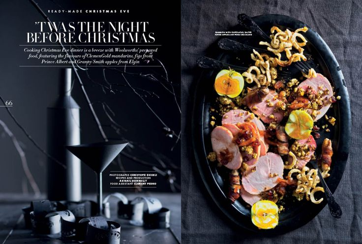 Cooking Xmas eve dinner is a breeze with Woolworths' prepared food.